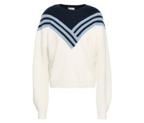 Intarsia Wool Sweater Ivory