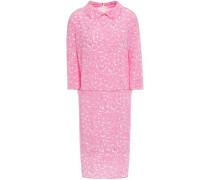Woman Printed Silk-crepe Dress Baby Pink