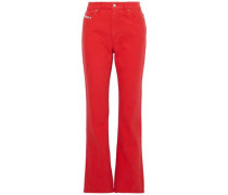 High-rise Bootcut Jeans Red  6