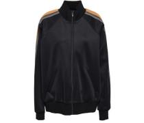 Striped Satin-crepe Track Jacket Black