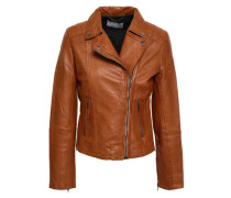 Indus Leather Biker Jacket Camel Size 14