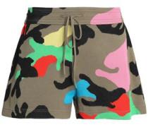Camouflage jacquard-knit shorts