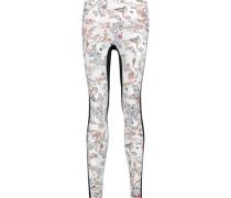 Lima paneled printed stretch-jersey leggings
