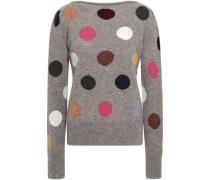 Intarsia Wool Sweater Mushroom