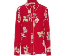 Printed Silk Shirt Red