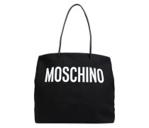 Printed Canvas Tote Black Size --