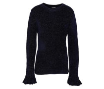 Embla Metallic Knitted Sweater Midnight Blue