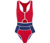 Kailua cutout two-tone neoprene swimsuit