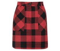 Gingham Cotton-twill Mini Skirt Red Size 0