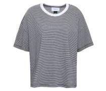 Striped Cotton-blend Jersey T-shirt Black