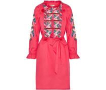 Embellished cotton-poplin dress