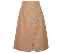 Panna wool-blend wrap skirt
