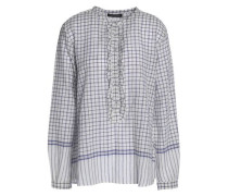 Haily ruffle-trimmed checked cotton-voile tunic