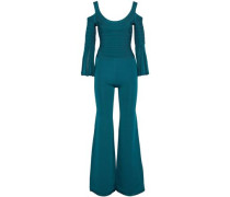 Yuna cold-shoulder bandage and stretch-knit jumpsuit