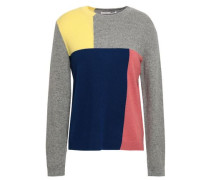 Color-block Cashmere Sweater Gray
