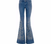 Ryley studded low-rise flared jeans