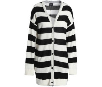 Striped Jersey Cardigan Ivory