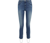 Bijou Stirrup Chain-trimmed High-rise Skinny Jeans Mid Denim  3