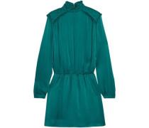 Washed-silk mini dress