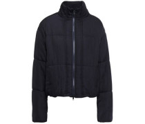 Quilted Woven Down Jacket Midnight Blue