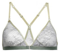 Nash Chantilly Lace Soft-cup Triangle Bra Gray Size I A