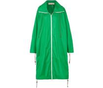 Oversized Shell Hooded Raincoat Green