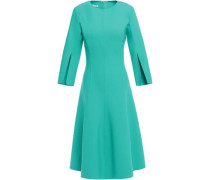 Woman Flared Wool-blend Dress Turquoise