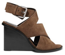 Elisa suede wedge sandals