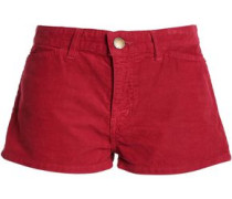 +charlotte Gainsbourg Cotton-corduroy Shorts Red  5