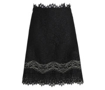 Corded lace mini skirt