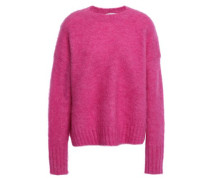 Brushed Knitted Sweater Pink