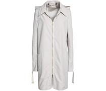 Gabardine hooded coat