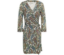 Julian Leopard-print Silk-jersey Mini Wrap Dress Multicolor
