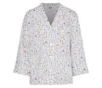 Marina Printed Cotton-poplin Pajama Top Ivory