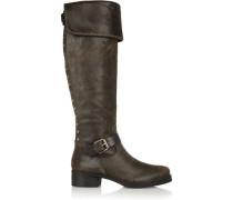 Tarulli distressed leather knee boots
