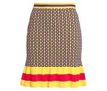 Fluted jacquard-knit mini skirt