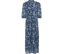 Printed Silk-georgette Midi Dress Navy Size 1