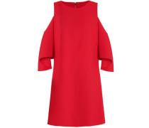 Coley cold-shoulder crepe mini dress