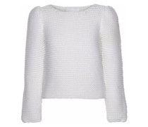 Bouclé-knit merino wool sweater