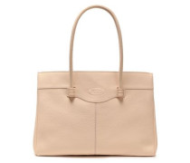 Pebbled-leather Tote Cream Size --