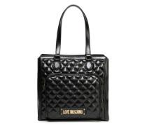 Logo-embellished Quilted Faux Leather Shoulder Bag Black Size --