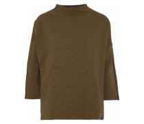 Foil matelassé sweatshirt