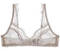 Petunia Passion scalloped lace soft-cup triangle bra