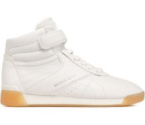 Addie Leather High-top Sneakers White
