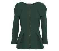 Fosse Wool-crepe Jacket Emerald