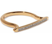 18-karat gold-plated sterling silver diamond ring