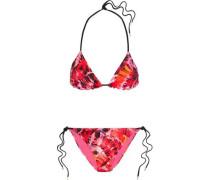 Parlatuvier Palm printed triangle bikini