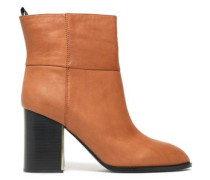 Leather Ankle Boots Camel