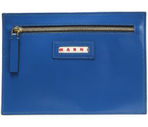 Woman Leather Pouch Blue