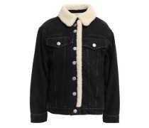 Woman Balta Faux Shearling-trimmed Denim Jacket Black